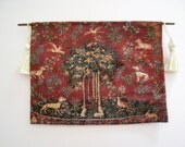Medieval  Tapestry, Tree of life tapestry, Tapestry,  hanging , Tudor, twelfth scale, dollhouse miniature