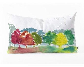 Oblong Throw Pillow - Autumn Colors
