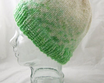 Fading grass - bulky wool hat