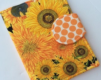 Kindle Paperwhite Case, Nook Glowlight Case, Samsung Nook Cover, all sizes, Sunflower Butterfly eReader Case