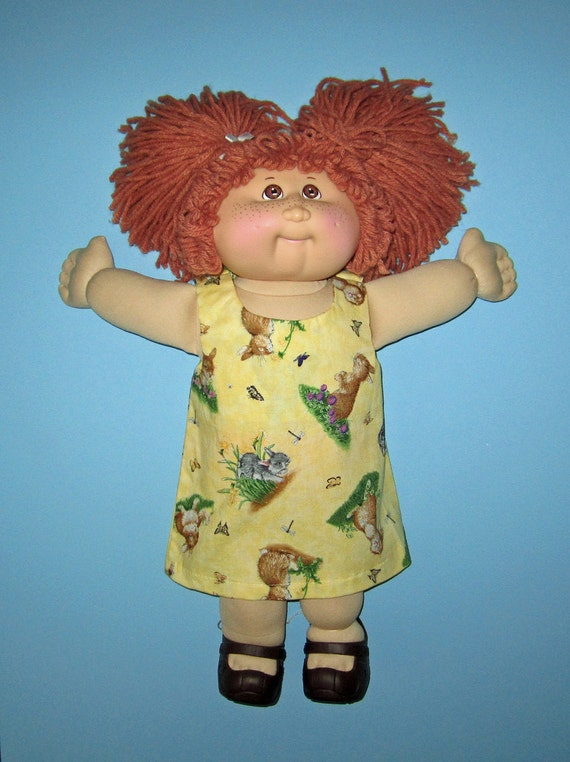 cabbage patch doll clothes dress springtime bunnies