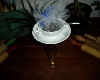 Upcycled Tea Cup/Saucer/Spoon Bird Feeder