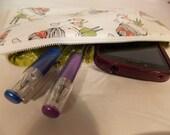 Pencil Pouch, Fox Makeup Bag, Fox Gadget Case, Fox Medicine Bag, Fox Style Mini Bag, Fox and Girl with Balloon