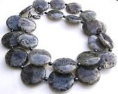 Moss Crystal Quartz and Hematite Handmade Necklace