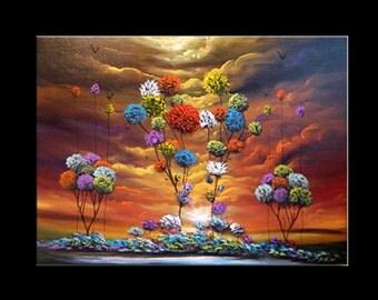 wall art wall decor fine art abstract wall hangings tree paintings original painting lollipop tree large art large painting 40 x 30 Mattsart