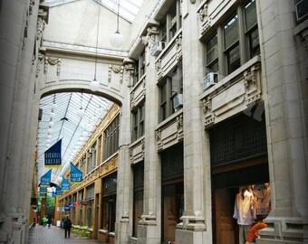 Nickels Arcade 2 in Ann Arbor Fine Art Photograph on Metallic Paper