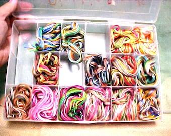 14 Friendship Bracelet Bundles Ready to Craft, Braid Multi Color Floss Kits w BOX #A108 FREE SHIPPING