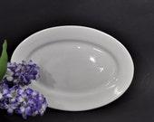 "12"" White Ironstone Platter - Restaurantware - Sterling China"