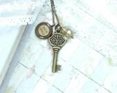 Typewriter Key Necklace Key Pendant Necklace Writer Necklace Typewriter Key Jewelry Typewriter Necklace