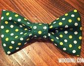 Green Polka Dot Dog Collar Bowtie -  Green Dog Collar Bow Tie - Green Dot Bow Tie - Dog Bow-Dog Bow Tie - Bow Tie -Three Sizes - Bow Tie