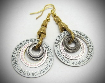 Unique - one of a kind - Steampunk ear gear -  Toc  - Steampunk Earrings - Womans earrings - For her