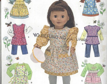 18 Inch Doll Clothes Simplicity Pattern #2761 SIZE One Size 18 Inch Doll Clothes Pattern uncut-- DurhamDeals