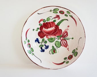 Antik Rococo faience plate, made in France Strasbourg