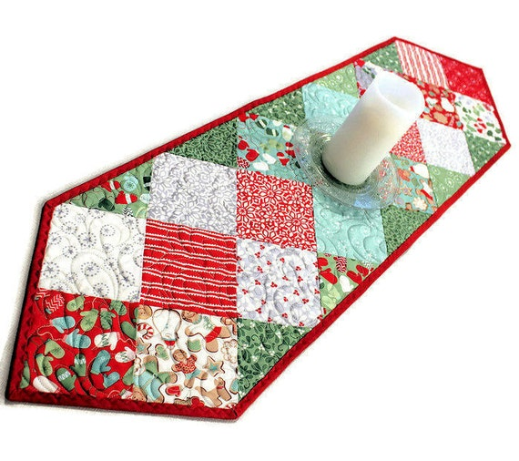 Christmas charms quillted table runner in from the cold for 120 table runner christmas