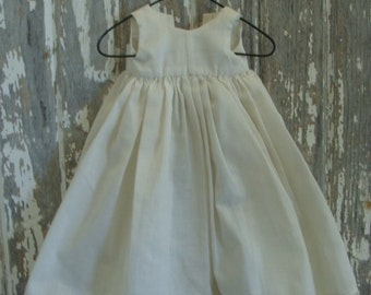 1930s Vintage Antique Handmade Bisque Doll Dress Pinafore Downton Abbey N061