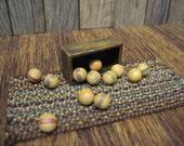 Dollhouse Miniature Croquet Balls Wood Vintage Box Game Room