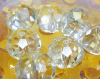 12mm AB Faceted Crystal Beads