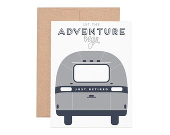 Airstream Retirement Letterpress Greeting Card - Retirement Cards | Greeting Cards | Letterpress Cards