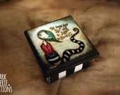 She Always Knew - Hand painted little wooden box