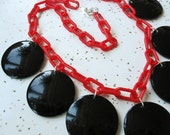Vintage 40s 50s Inspired Discs Necklace - Vintage Inspired Jewelry - Handmade Mid Century Style