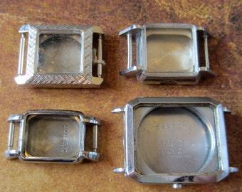 Vintage  Watch parts - watch Cases -  Steampunk - Scrapbooking  h87