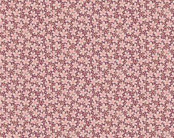 Liberty Tana Lawn Fabric Speckle H Half Yard Pretty Red Pink Floral Dots