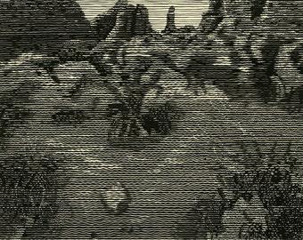 Mirage, Linocut Print