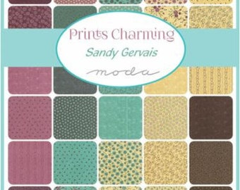 FALL SALE - Prints Charming - Fat Quarter Bundle (40) - by Sandy Gervais for Moda Fabrics