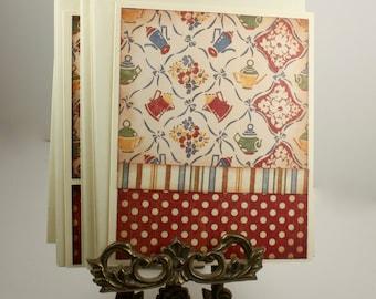 U FINISH - Set of 12 Handmade Cards Unfinished - Coordinating Envelope