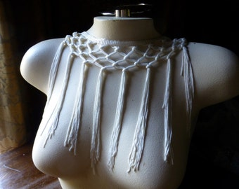 Ivory Fringe Trim Rayon for Bridal, Costumes, Garments
