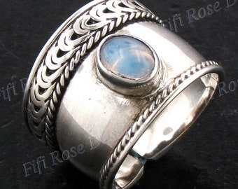Bali Handmade Moonstone 925 Sterling Silver Toe Ring