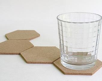 Hexagon Coasters in 5mm Merino Wool Felt Sahara