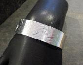 Silver Cuff Bracelet- Hammered Cuff- Bold Bracelet- Silver Cuff- Textured Cuff