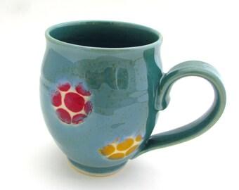 Colorful Handmade Stoneware Mug