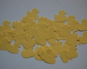Sweet Yellow Duckies Confetti - Punch - Cut Outs - Baby Shower - First Birthday -- Set of 50 ducks -- Ready to Ship