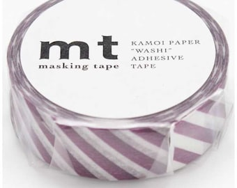 mt deco - stripe - purple - washi masking tape - 15mm x 10m x 1 roll