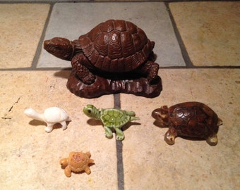 Instant Collection of Small Turtle Figurines (4)