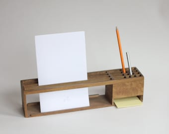 Super Lite Light Wood Wooden Desk Office Caddy Organizer Made In Japan 60s  Retro