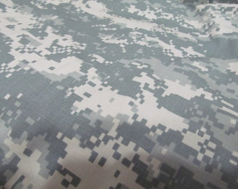 1 Fat Quarter of made for the military ACU Ripstop fabric