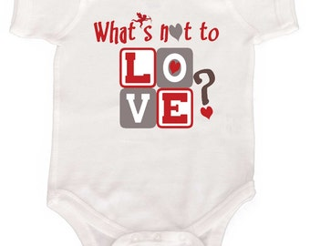 Funny Valentine Romper Baby Bodysuits Newborn Creepers 1st Valentines  by Mumsy Goose