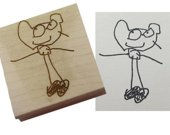 Custom Rubber Stamp made with your Child's Artwork