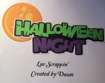 Halloween Night Scrapbook page title