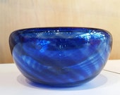 Blue Blown Glass Bowl, 4....