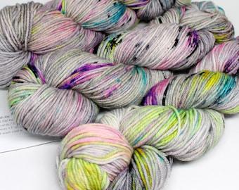 Squish DK - 250 yards - Hand Dyed Superwash Merino Yarn - Ain't No Disco