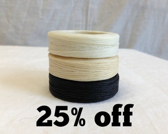 SALE 25% OFF - Waxed Linen Thread - 1mm - 25 yard (22.8m) length
