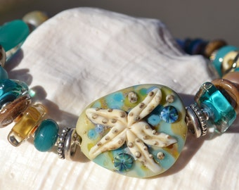 UNDER the SEA-Handmade Lampwork and Sterling Silver Bracelet
