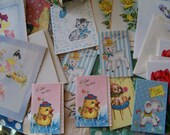 Moving Sale!  Box of Vintage Gift and Greeting Cards Adorable Graphics all Unused!