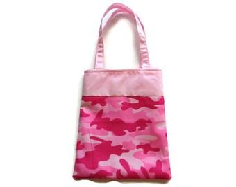 Handmade Fabric Camo Gift/Goodie Bag - Pink Camo