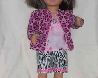 American Girl Jacket and Shorts Outfit