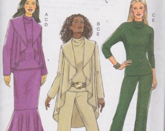 Butterick B4873 Misses' Jacket, Top, Mermaid Skirt and Pants Sizes 4-14, XS, Sml, Med UNCUT Pattern  Easy Pattern